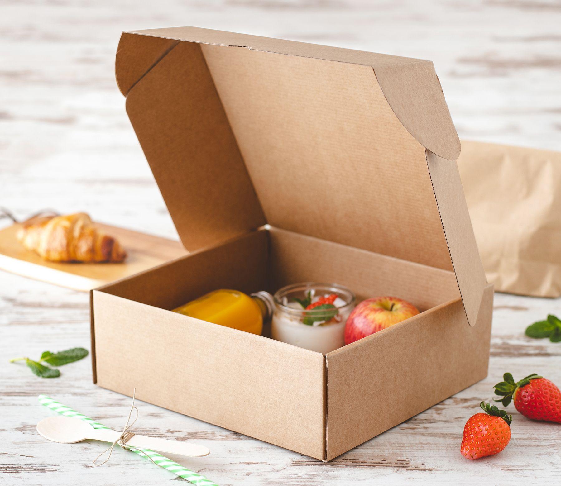 Caja De Carton Para Desayunos Envases De Comida Para Llevar Caja De Comida Empaquetado De Alimentos