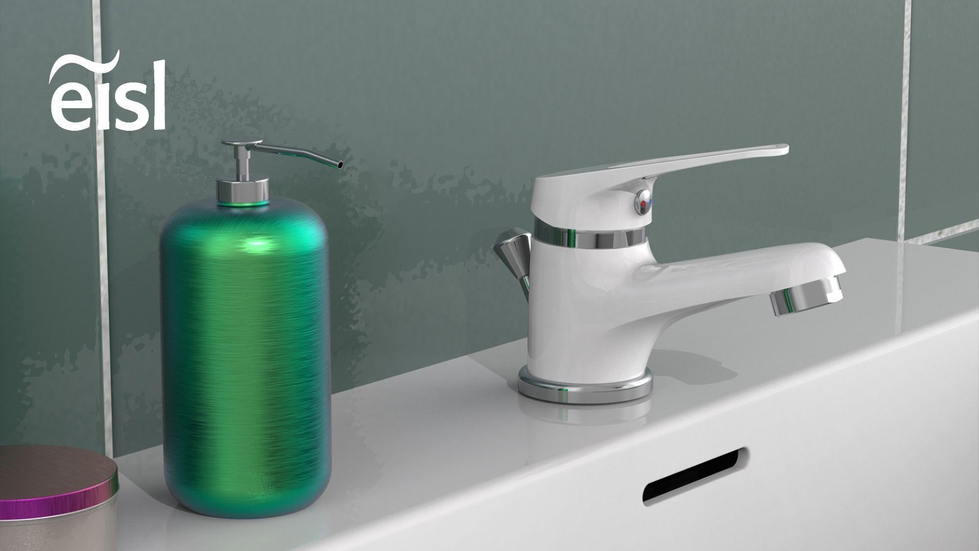 Platzsparender Wasserhahn, Waschtischarmatur, Badarmatur, in 18