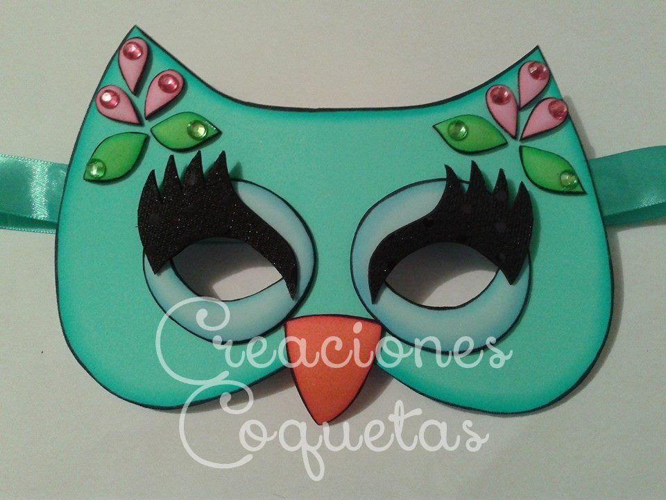 Mascara de buho en foami mis creaciones mascara - Disfraces de buhos ...