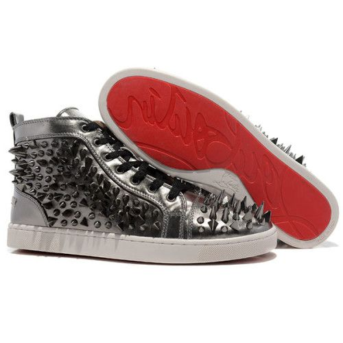 2012 Christian Louboutin Sneakers Louis Pik Pik Man High Top Leather R : Christian  Louboutin