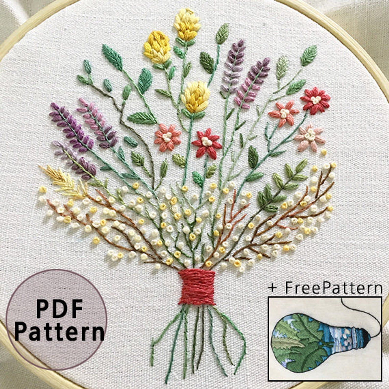 plus_ Bonus Free Pattern_Dried flower bouquet__PDF files
