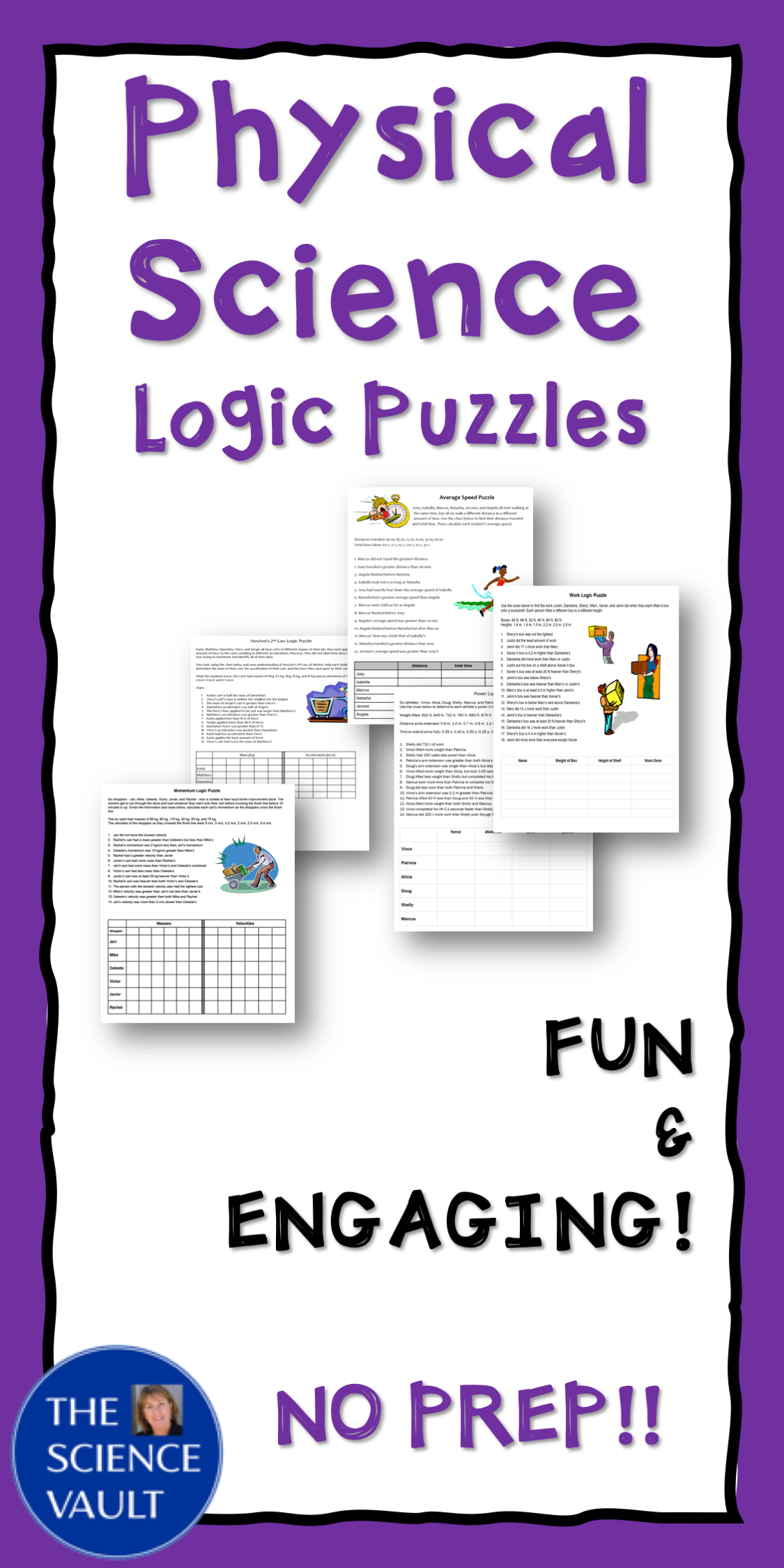 Physical Science Logic Puzzles 2nd Law Of Motion Momentum