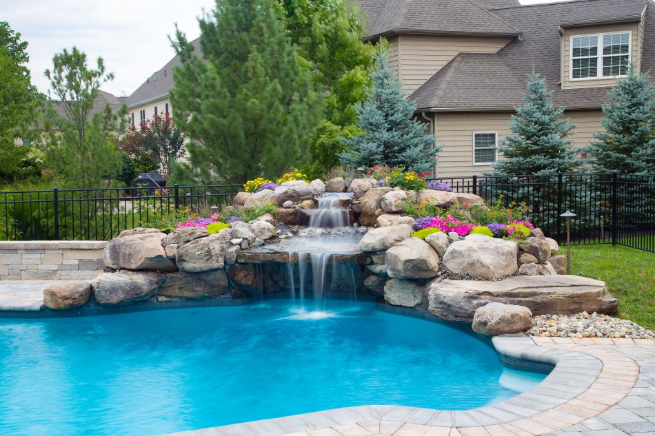 Pool Grottos Aquatic Artists Pool Waterfalls Nj Pa Ny De Md Pool Waterfall Pool Remodel Backyard Pool