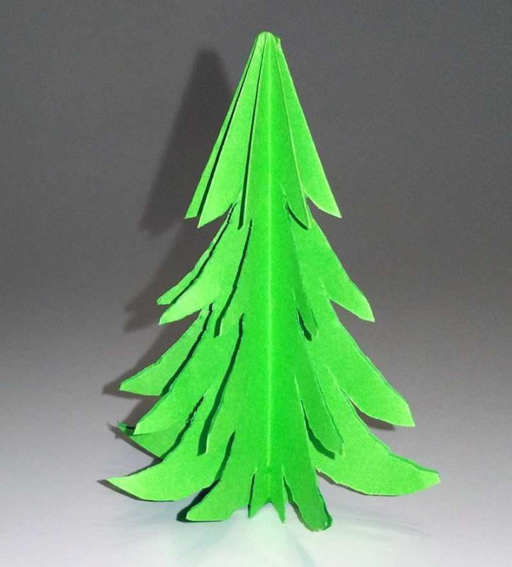 step by step bastelanleitungen 3d tannenbaum aus papier selber basteln schritt 9