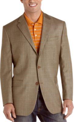 Lauren by Ralph Lauren Taupe Check Sport Coat - Classic Fit (Regular)   Men's Wearhouse