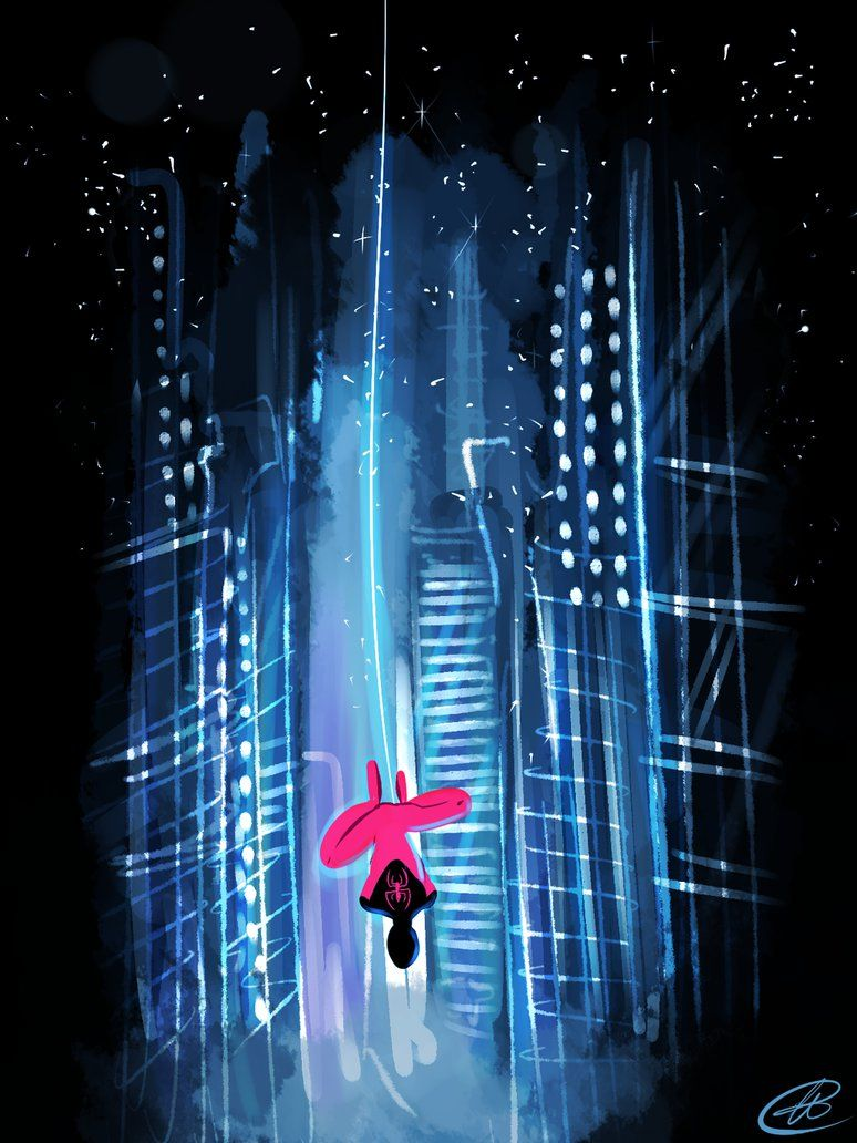 Spider in the City Lights by xxiiCoko on DeviantArt