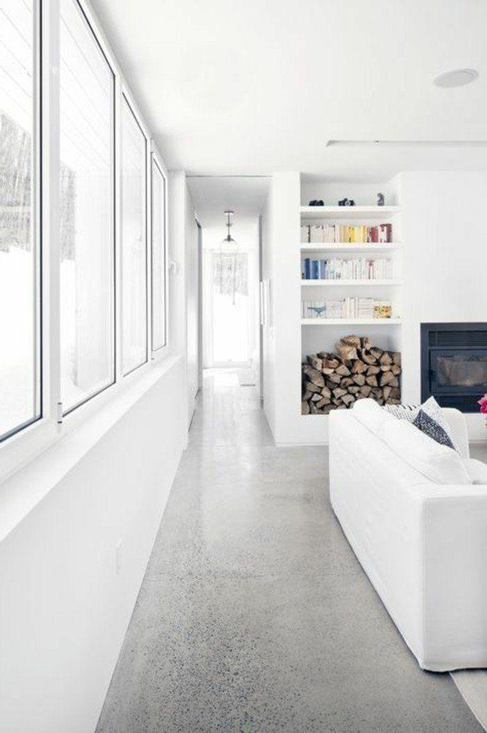 Intérieur en béton décoratif? Nos conseils! Floors kitchen - peinture beton cire mur