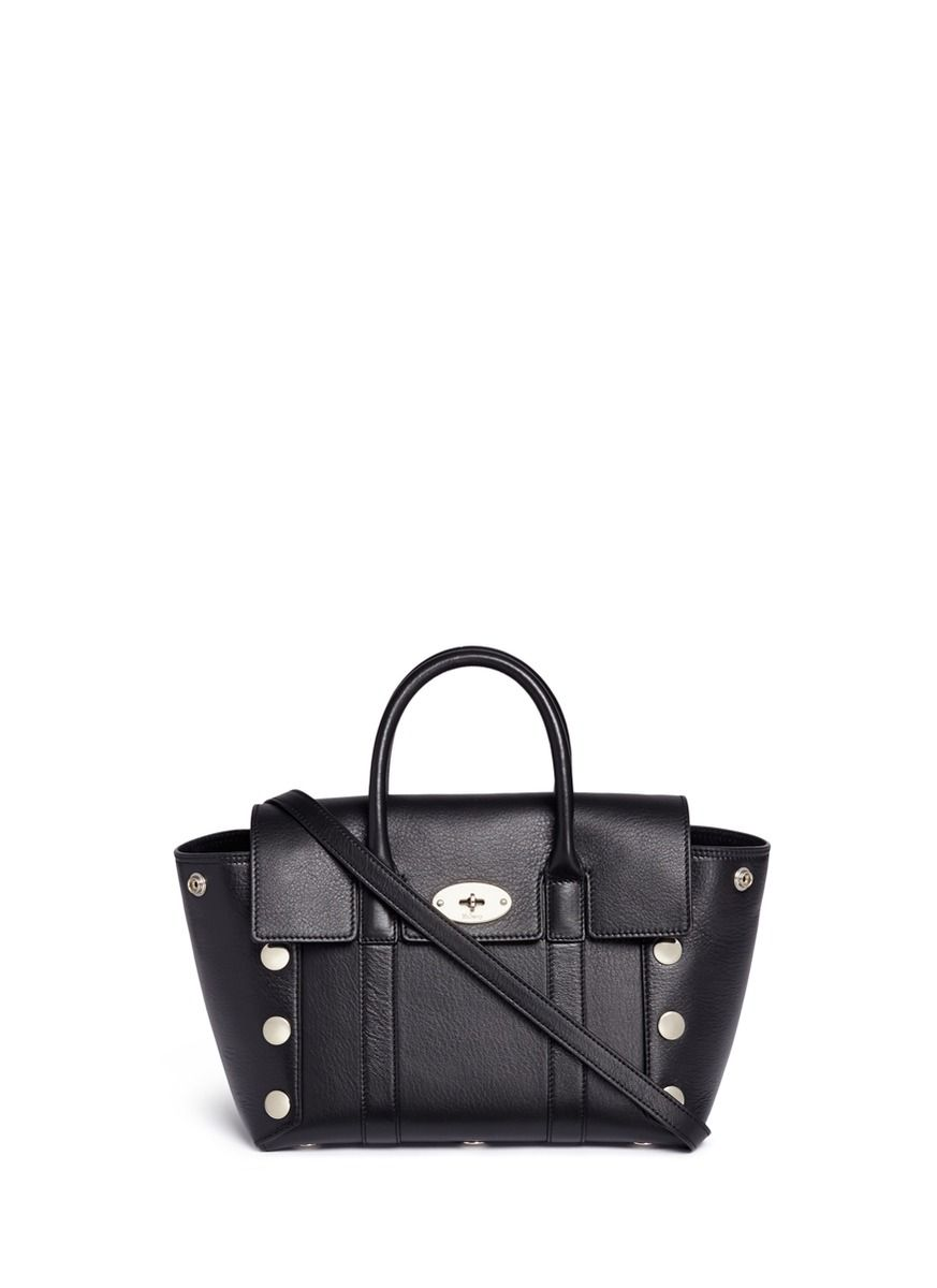 MULBERRY Small New Bayswater  Stud Leather Tote.  mulberry  bags  shoulder  bags  hand bags  suede  tote  lining   c86f1182de