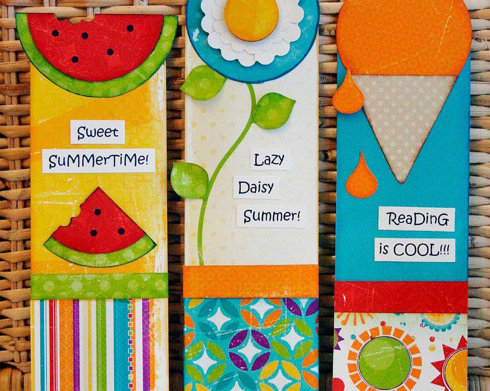Bookmark Craft Ideas For Kids Part - 16: Kids Crafting U2013 Summer Bookmarks
