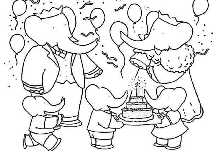 Pictures Babar Birthday Coloring Pages - Babar Coloring ...