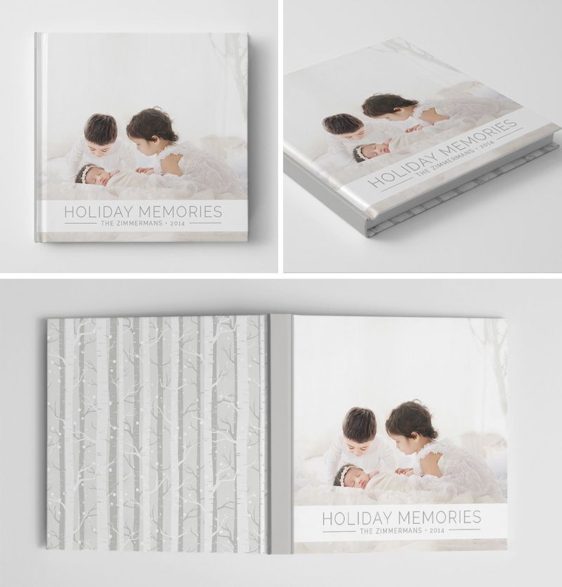 Holiday Book Album Cover Template for #Photoshop #photography ...