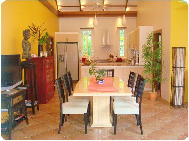 Amazing Thai decorated interior design of the dining room.