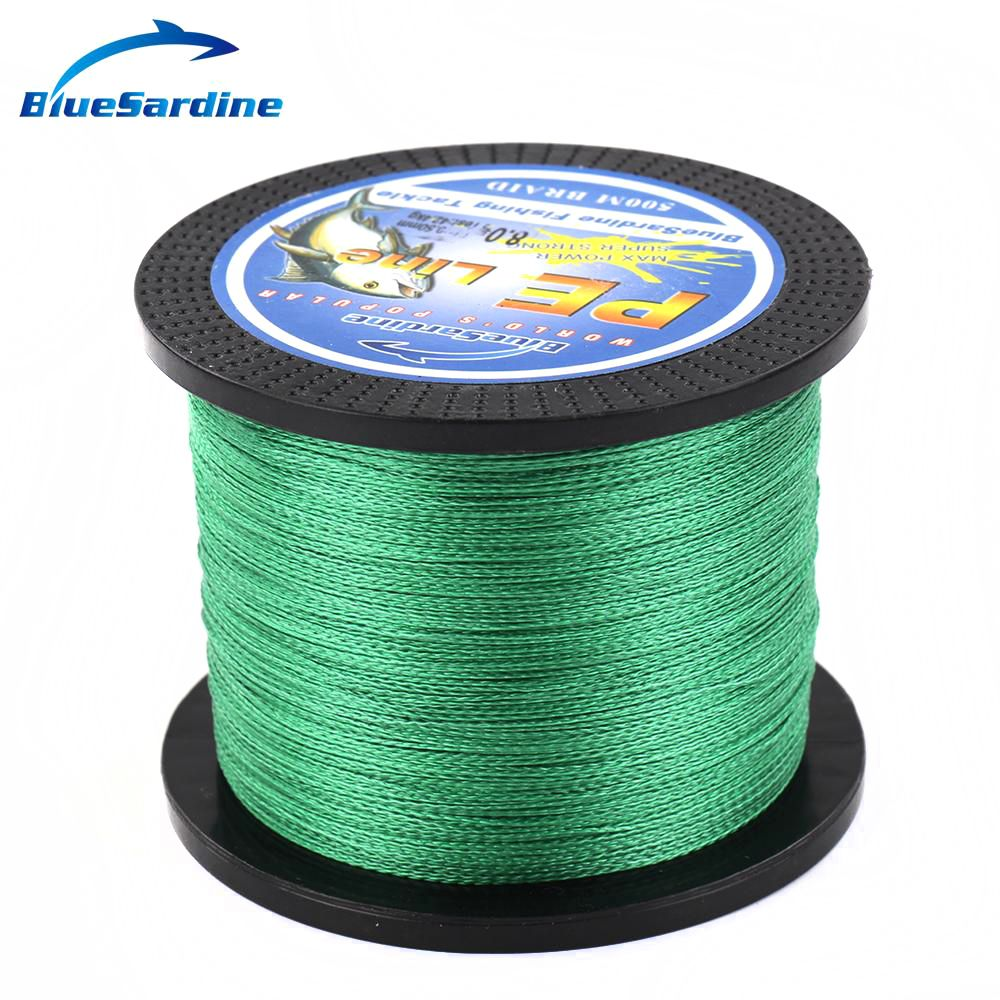 Bluesardine Green Braided Fishing Line 500m Multifilament Pe Braid