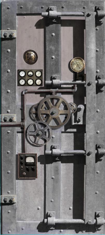 Steampunk Door wrap — Rm Wraps