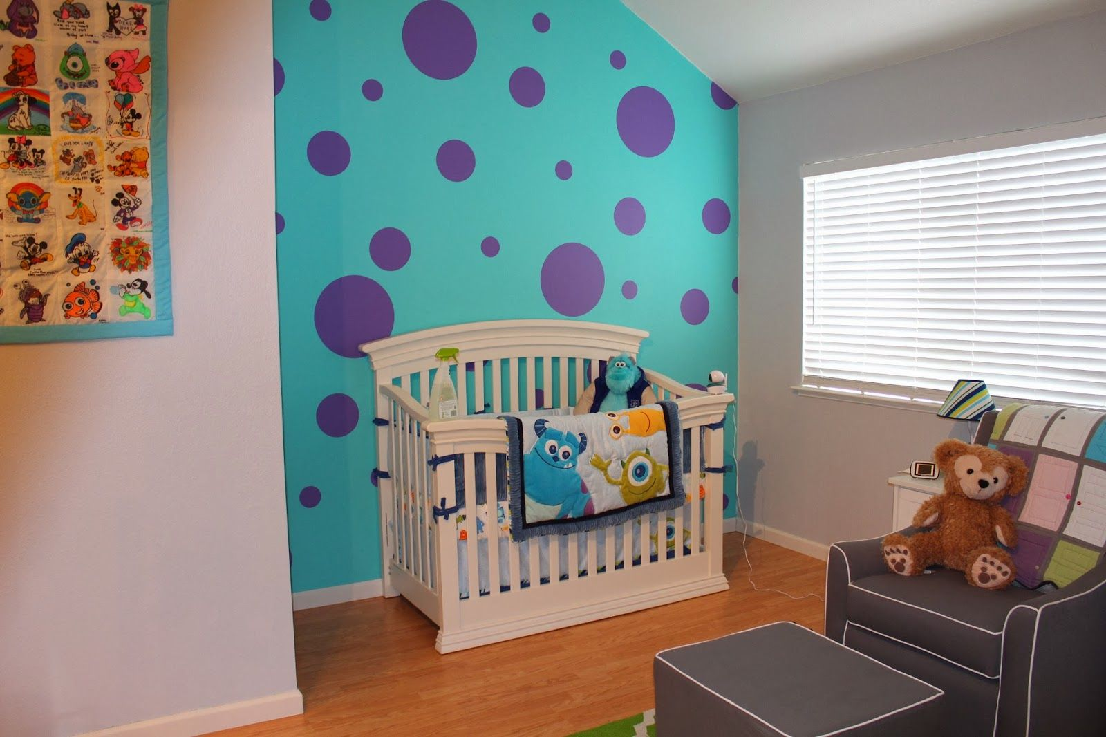 Life With The Tans Liam S Monster S Inc Nursery Disney Themed Nursery Monsters Inc Nursery Disney Baby Rooms