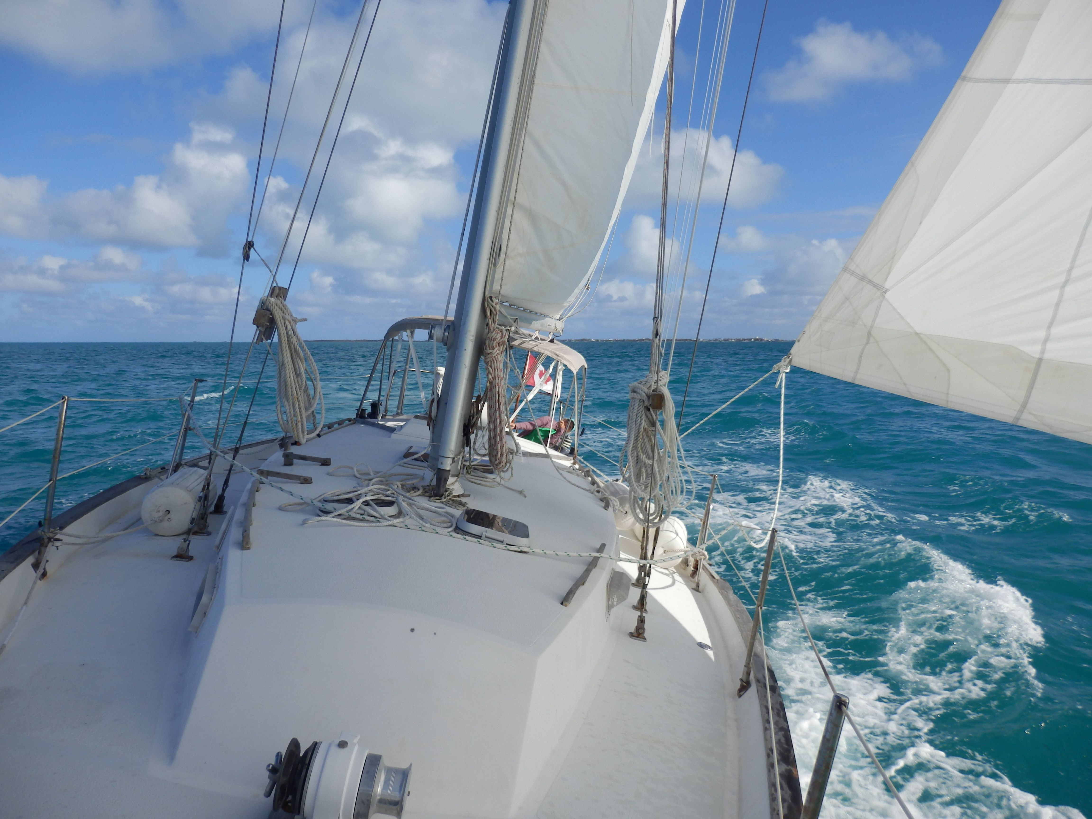 Sailing into the Sea of Abaco