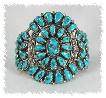 Turquoise Jewelry Jessie Williams Navajo Sterling Silver Cer Bracelet Native American