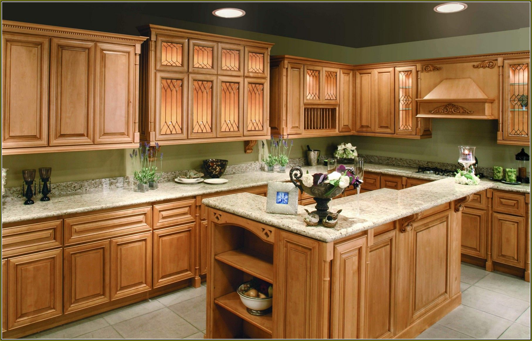Awesome Maple Cabinets With Granite Countertops Home ... on What Color Granite Goes With Maple Cabinets  id=56326