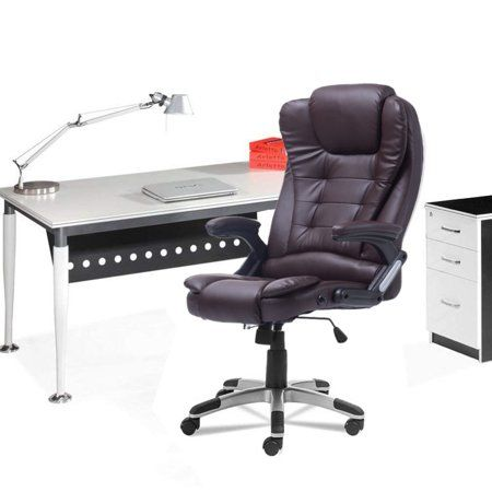 Heated Vibrating Massage Chair Office Chair With 1 Chair Mat