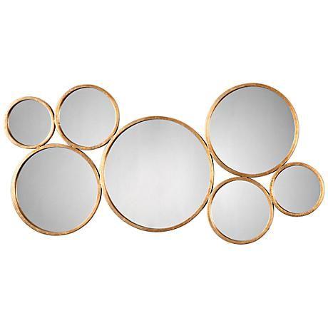 "Uttermost Kanna Gold 48 3/4"" x 23 3/4"" Metal Wall Mirror - #7V505 | LampsPlus.com"