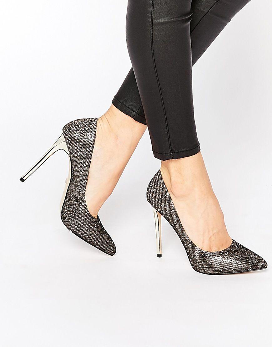 Buy Women Shoes / Carvela Goal Metallic Thread Point Toe Heeled Court Shoes