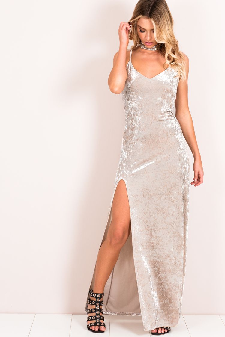 Slay all day velvet maxi dress dissh fashion pinterest