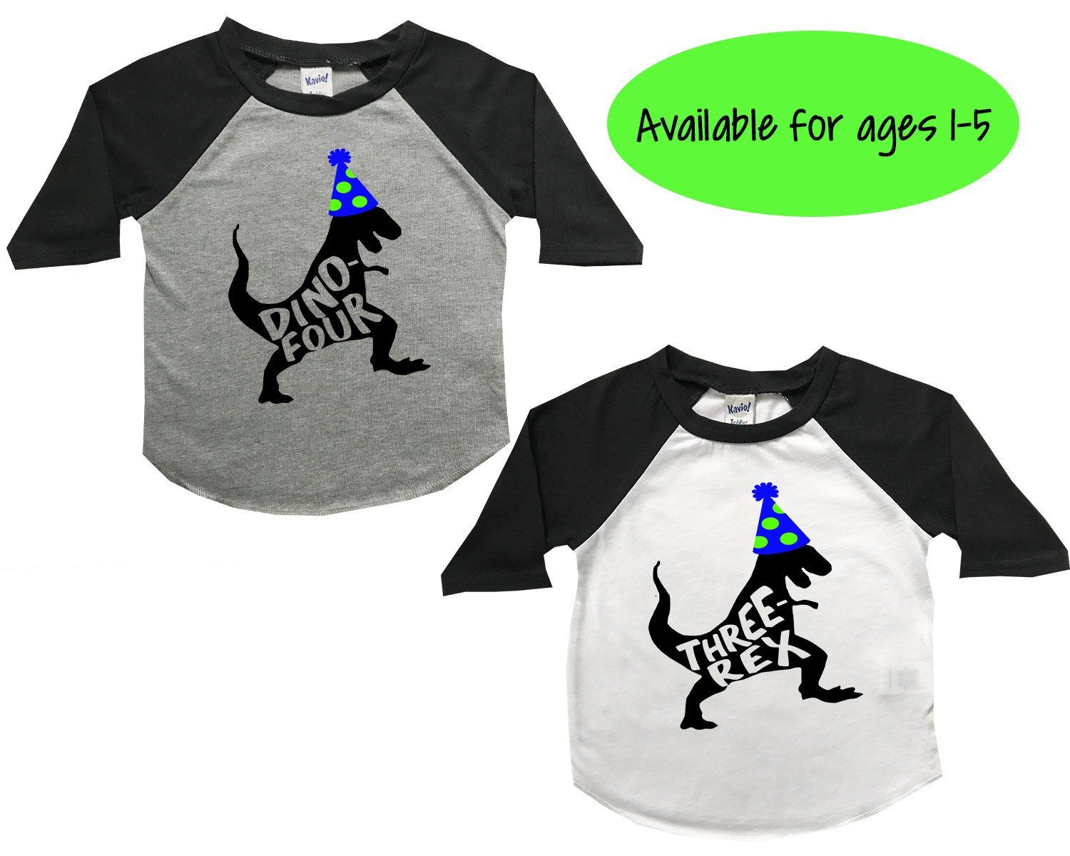 Dinosaur Birthday Shirt Four Years Old Dino Boys Toddler Theme Three Rex By PeachTeeCo On
