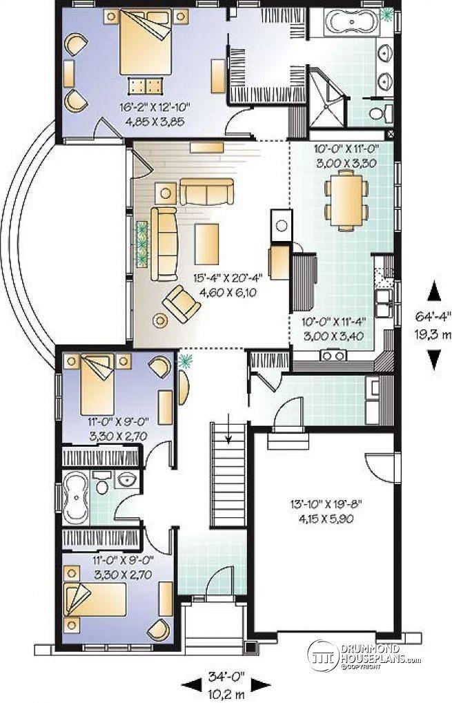 3 bedroom ensuite house plans