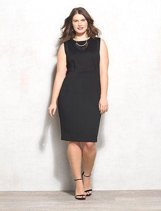 Plus Size Seamed Sheath Dress | dressbarn | Plus size black ...