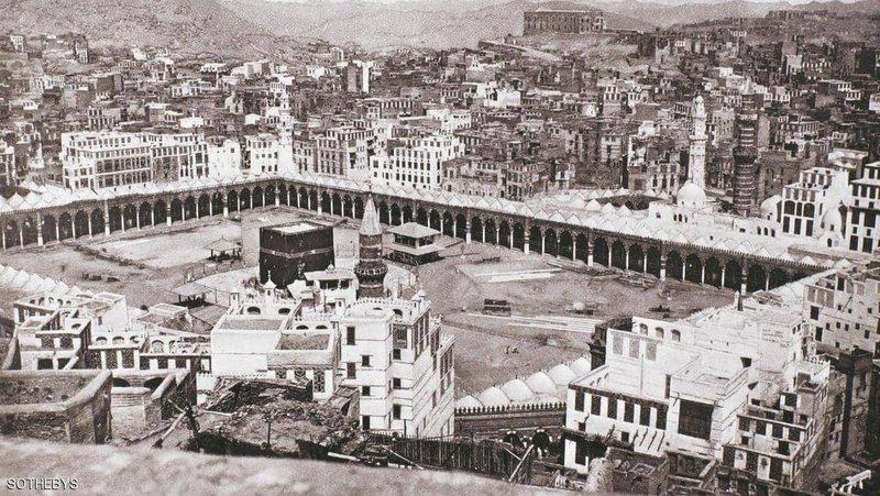 أول صورة لمكة المكر مة ت باع في مزاد تعرف على سعرها ومن قام بتصويرها Mecca Mecca Images Kaba