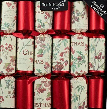6 x 12 country christmas berries english christmas crackers by robin reed robin reed