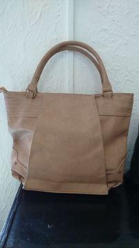 nuevo Bolso beige estilo tote bag ecocuero color 50W0rwTq