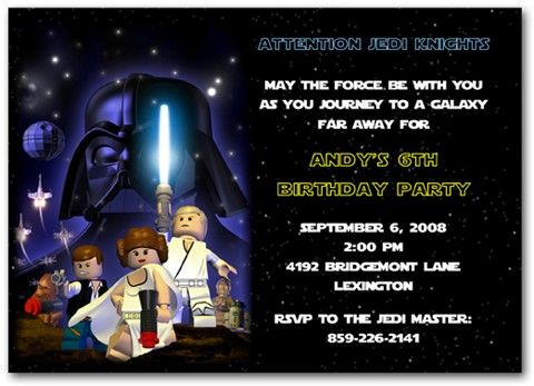 Star wars lego birthday party ideas invitations photo props lego starwars party filmwisefo