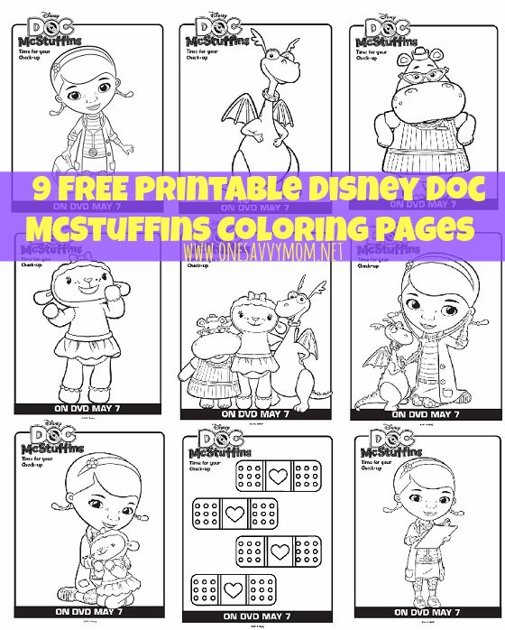 image regarding Doc Mcstuffins Printable Coloring Pages known as 9 Free of charge Disney Document McStuffins Printable Coloring Internet pages Against