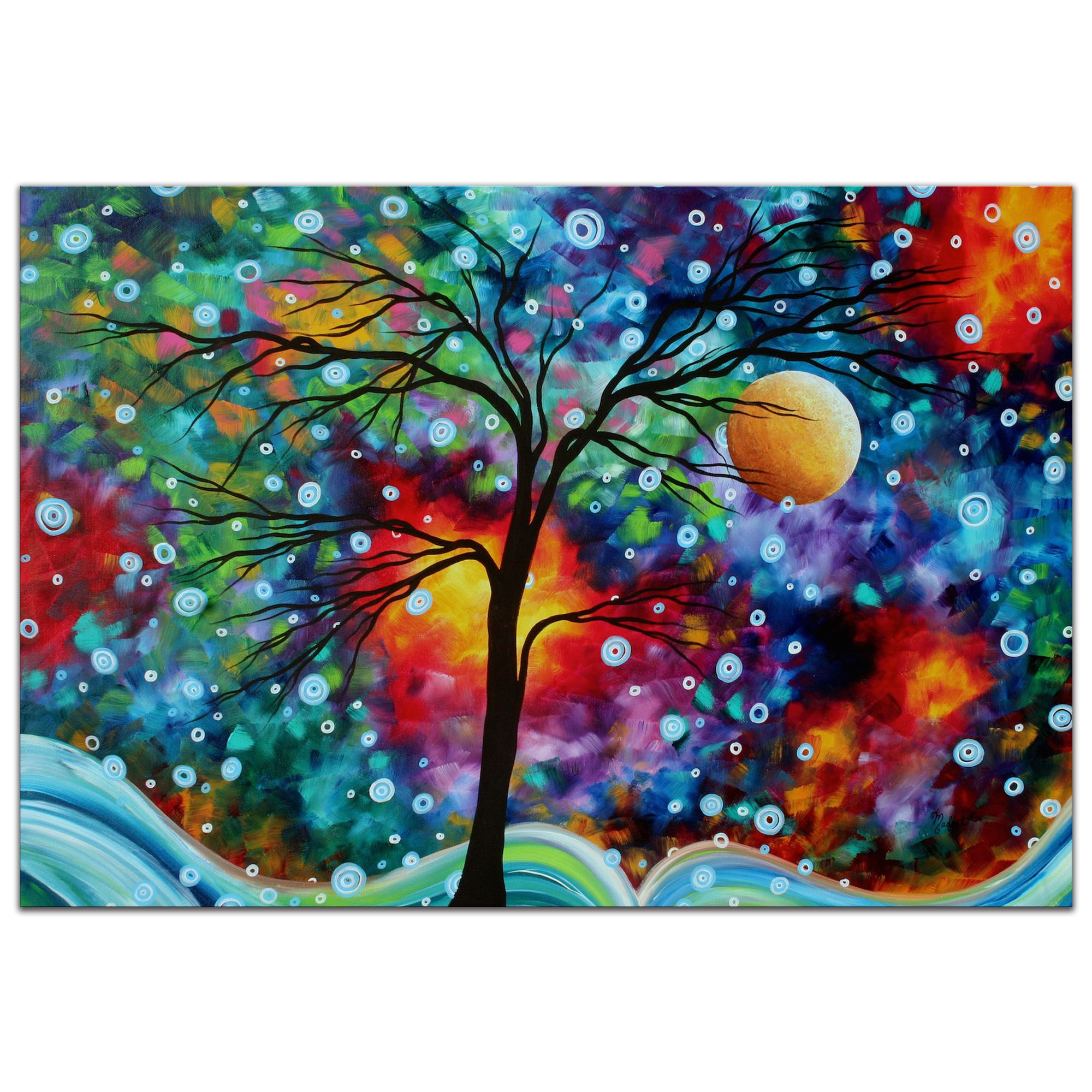 Whimsical Tree Art A Moment In Time Colorful Abstract Landscape Fantasy Trees Rainbow Metal Painting Giclee By Megan Duncanson 206974 Paintings For Sale Colorful Landscape Paintings Whimsical Art Tree Art