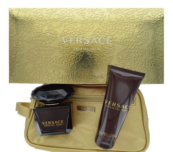 Bright Crystal Noir by Versace Gift set 3 piece for Women Gift set This set  includes 3 pieces Gift Set Eau de Toilette 3oz 90 ml spray  f59adbb6daf0d