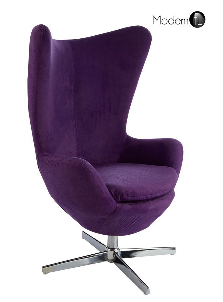 Stupendous Purple Egg Lounge Chair Modern Purple Swivel Lounge Chair Creativecarmelina Interior Chair Design Creativecarmelinacom