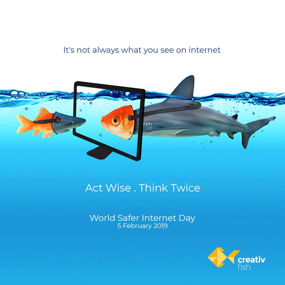 World On The Web Is Helpful And Beautiful Till The Time We Are Careful Safer Internet Day 2019 Becreati Safe Internet Branding Digital Marketing