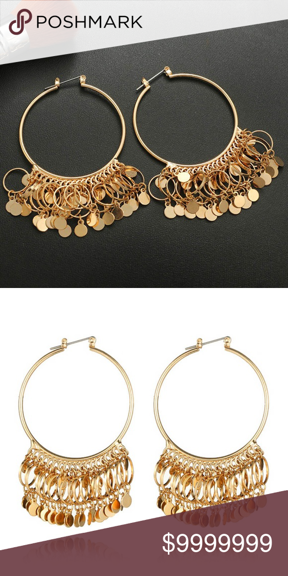 76fb7d4ab Forever 21 Fashion Hoop Dangle Earrings Forever 21 Brand New Fashion Hoop  Dangle Earrings~~Goldtone Price Is Firm~No Trades Forever 21 Jewelry  Earrings