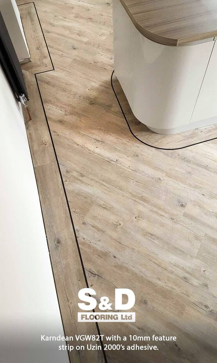 Impressive Work By S D Flooring Boysinblue Installing Karndean Design Vgw82t With A 10mm Feature Strip And Uzin 2000 Adhesive