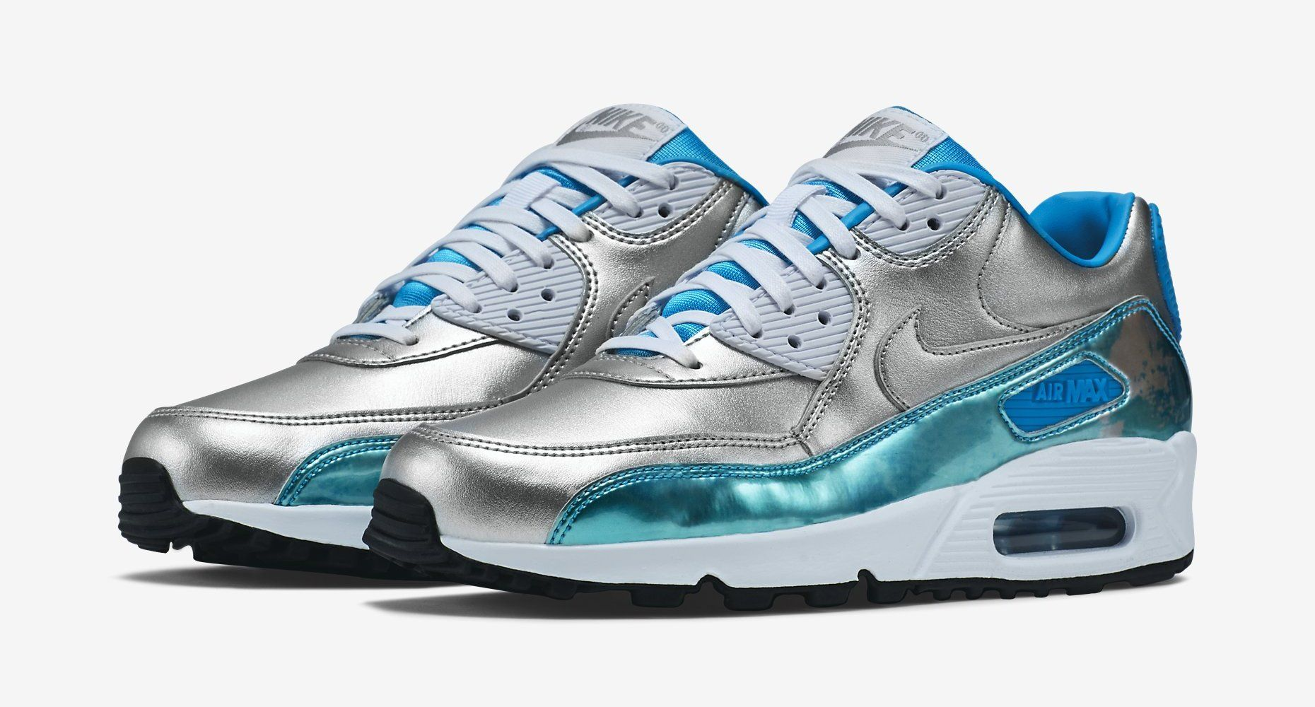 Nike Women's Air Max 90 Premium – Metallic Silver