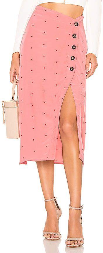 8abcf8caaa For Love & Lemons X REVOLVE Midi Skirt Types Of Women, Pink Dot, Revolve