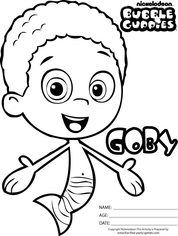 nonny coloring page to print guppies coloring pages | News to Gow ...
