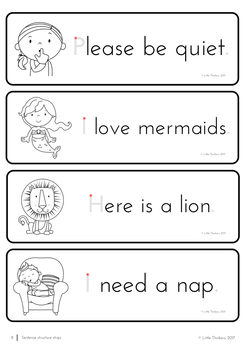 Learning How To Write Made Easy With These Practice Strips Sentences Understanding Sentence Structure [ 1123 x 794 Pixel ]