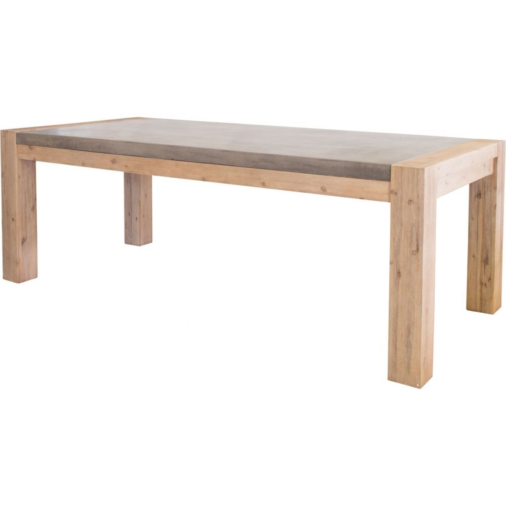 Midwest 220cm Concrete Dining Table, Dk Grey