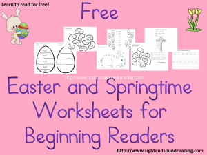 Free Easter Worksheets for Kids.  Great for kindergarten, or preschool!