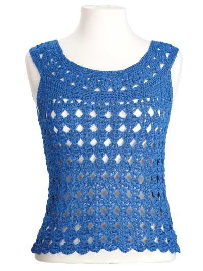 Marilyn Sleeveless Top Free Crochet Pattern Crochet Tops