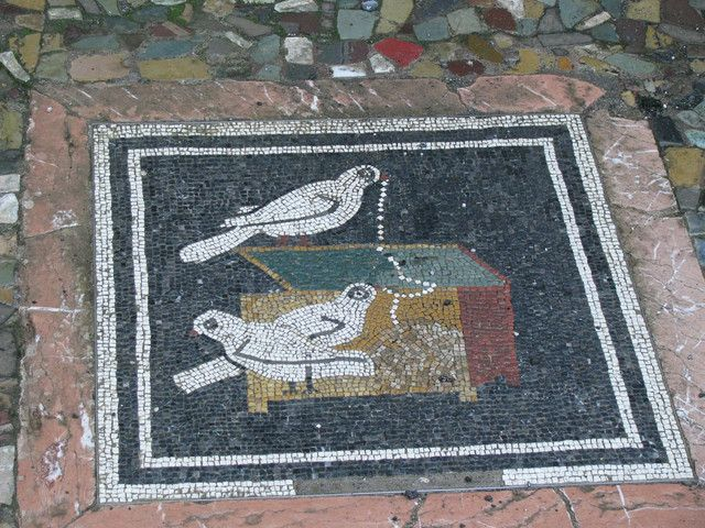 Front Entryway Tile Art At Pompeii Ad79 2000 Years Ago Pompeii