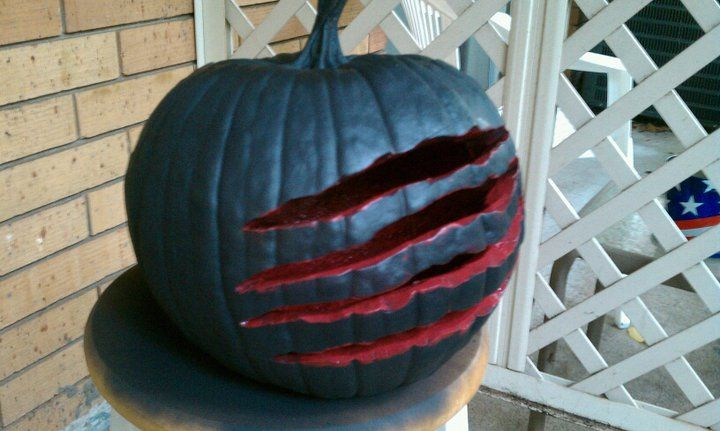 Creative Jack O' Lantern without face.