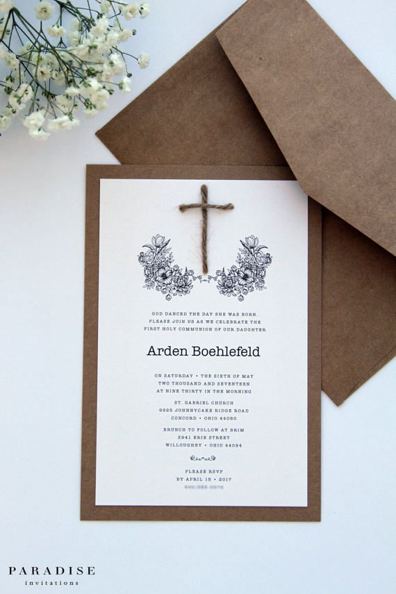 Boy Or Girl Baptism Invitations Christening Invitation First